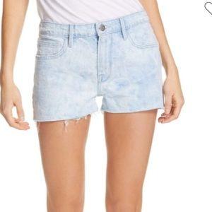 NWT Frame Le Grand Garçon High Rise Cut Off Shorts